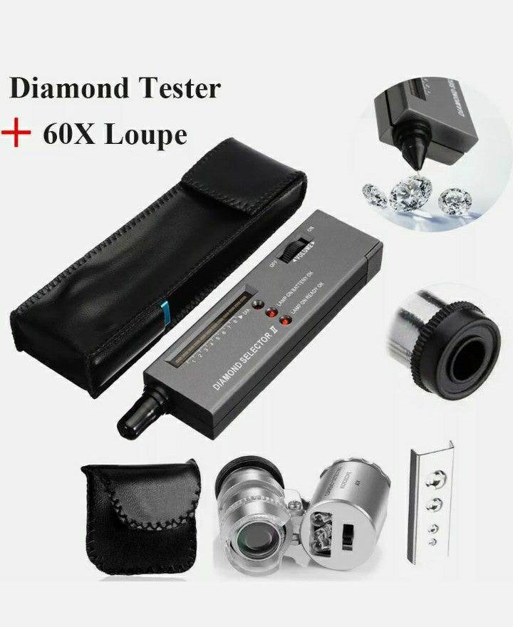 Jewelers' Diamond Tester + 60x microscop
