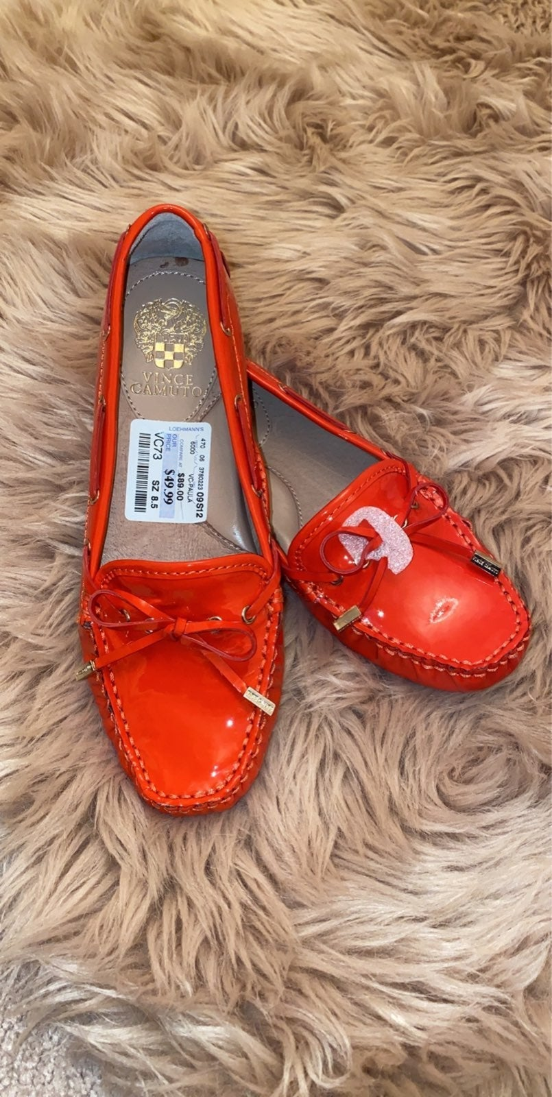 VINCE CAMUTO Paula Orange  Patent Leathe