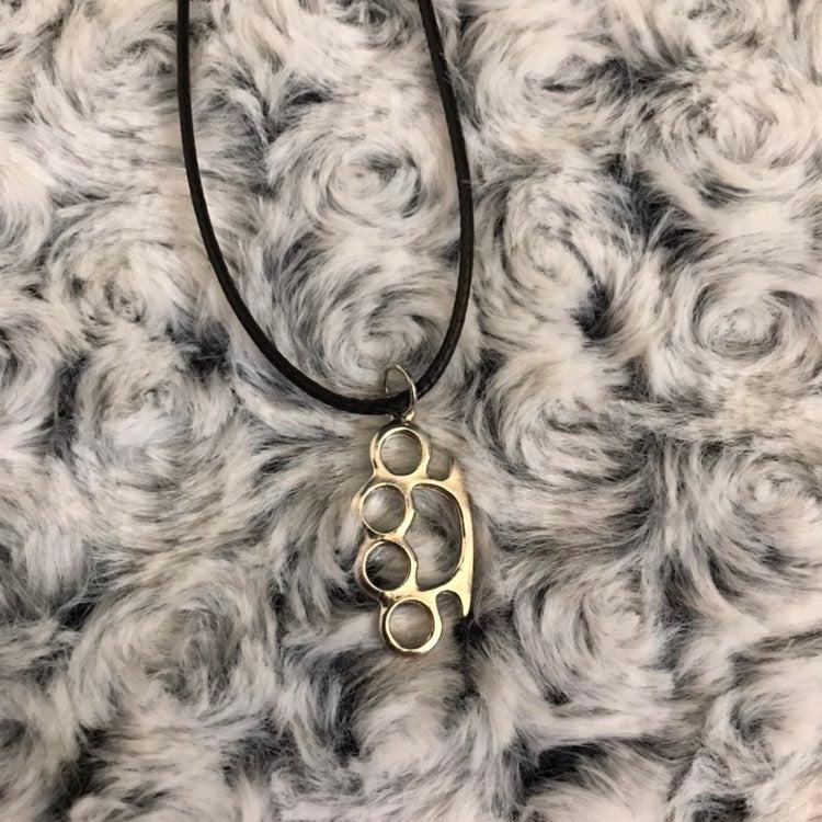 Brass Knuckles Necklace