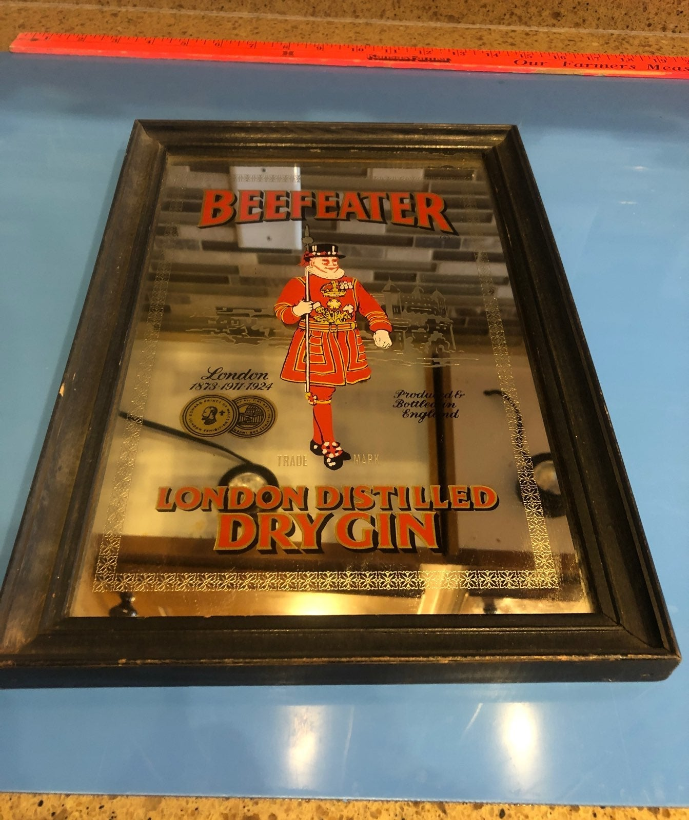 Vintage BEEFEATER London Dry Gin Mirror