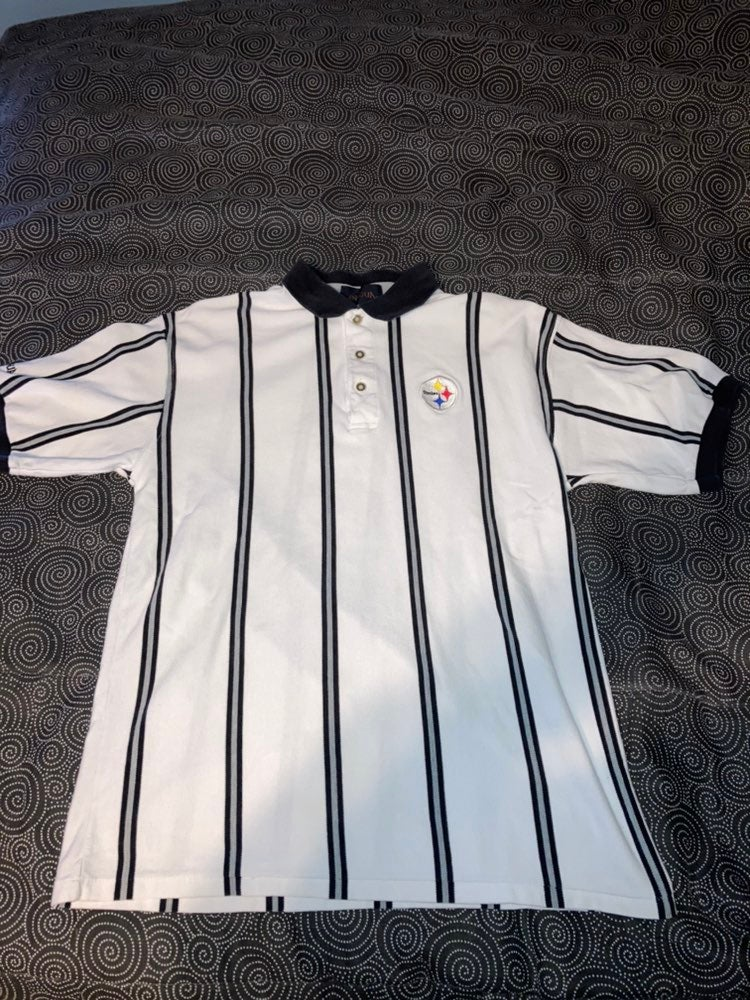 Pittsburgh Steelers Striped Polo Shirt