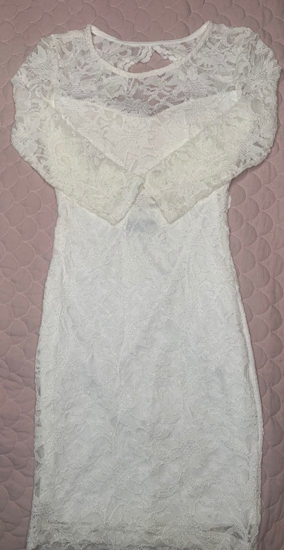 B Darlin White Lace Dress sz Small