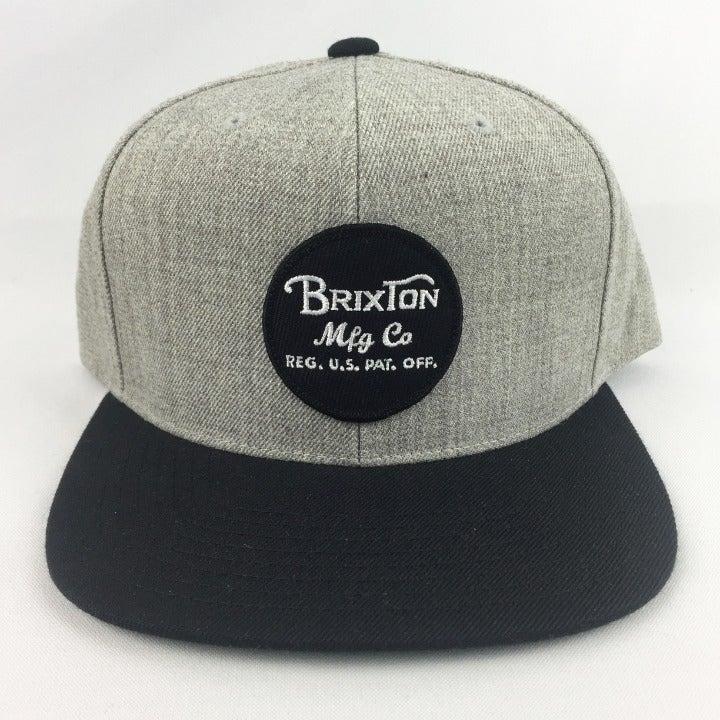 Brixton Wheeler Snapback Hat Gray New