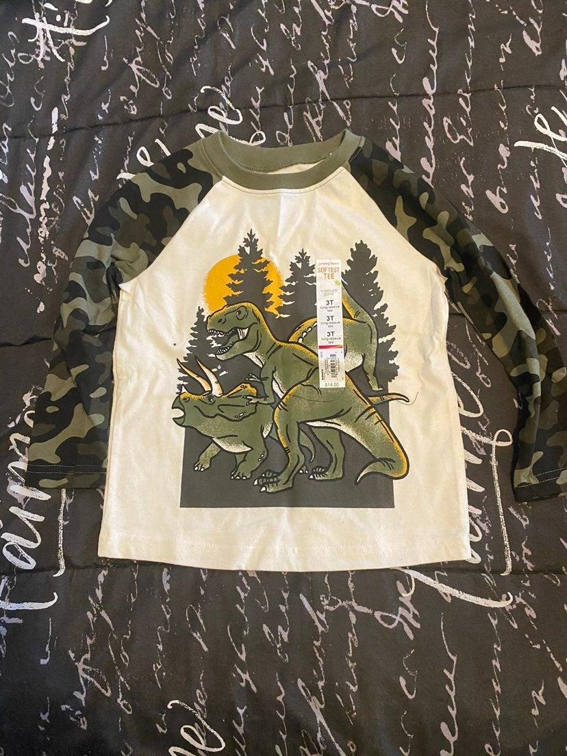 Toddlers long sleeve dinosaur shirt
