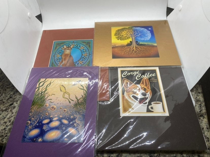 Set of 4 art prints