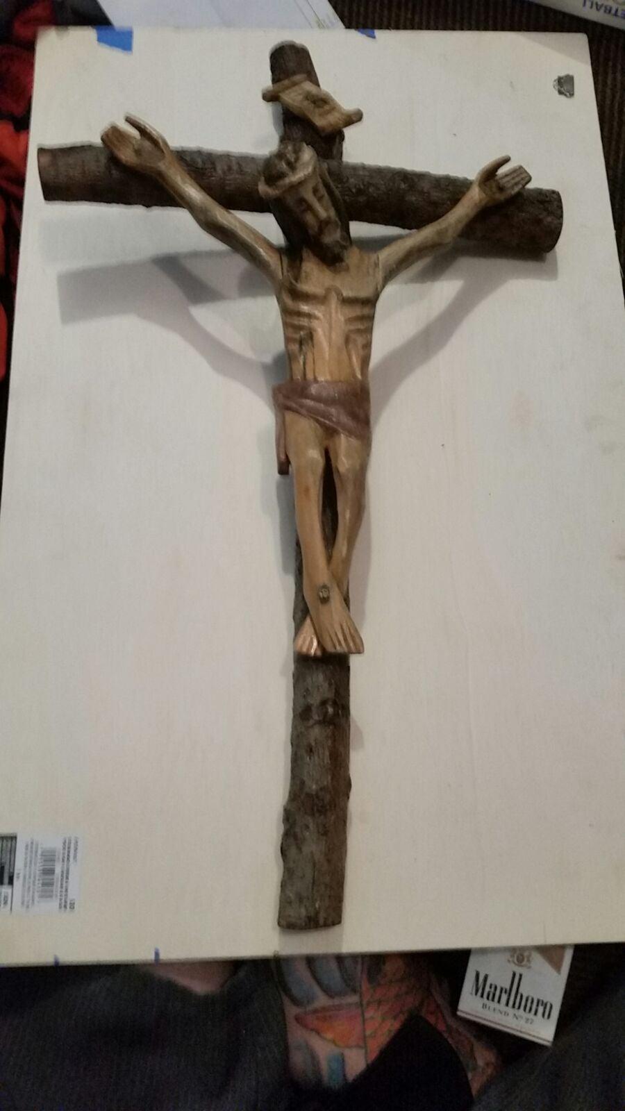 Antique French crucifix