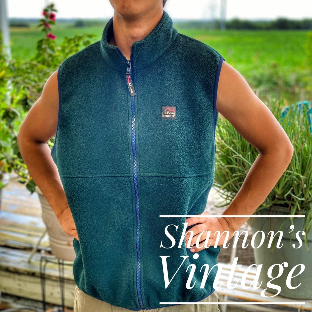 LL Bean Outdoors large fleece vest