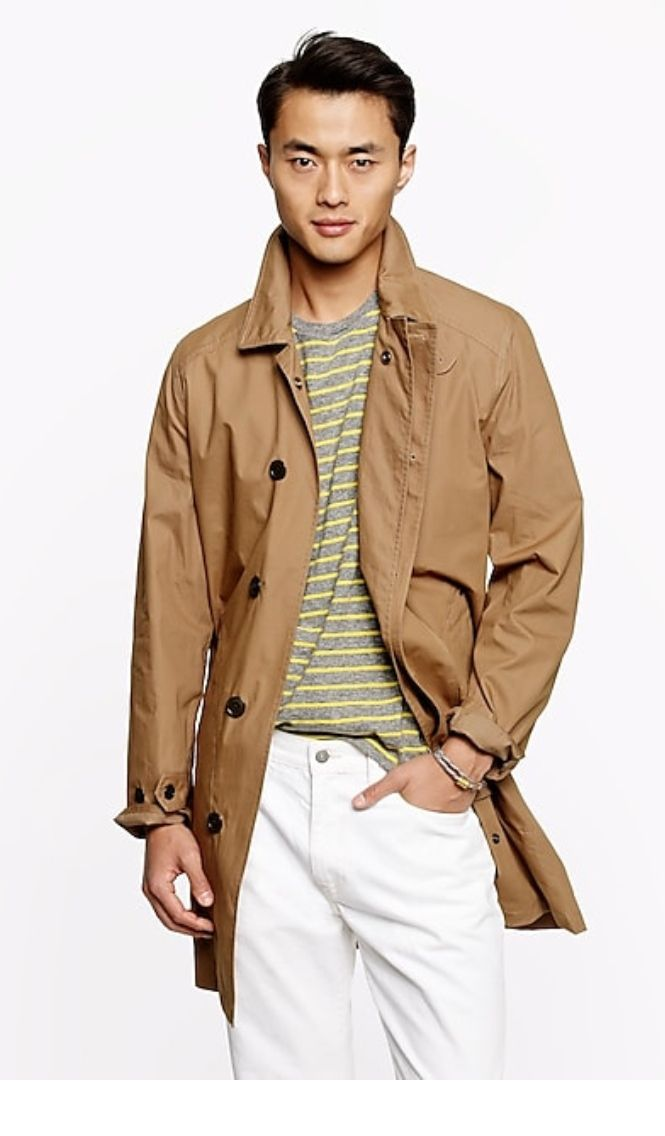 Jcrew outerwear wedgewood trench jacket