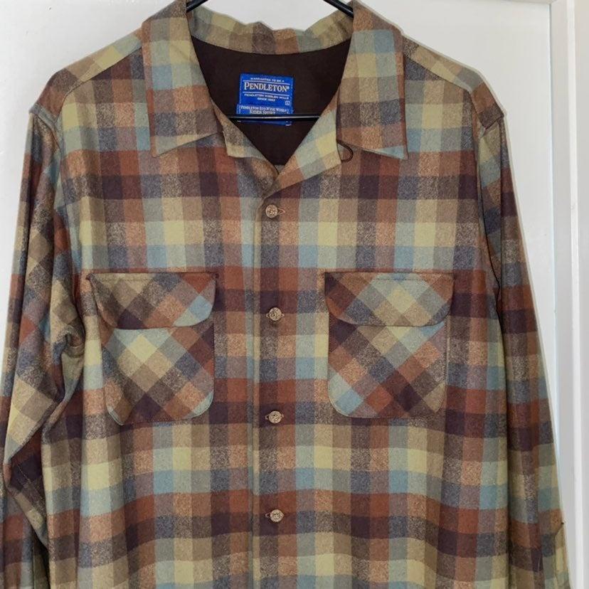 Shirt pendleton plaid wool rider flannel
