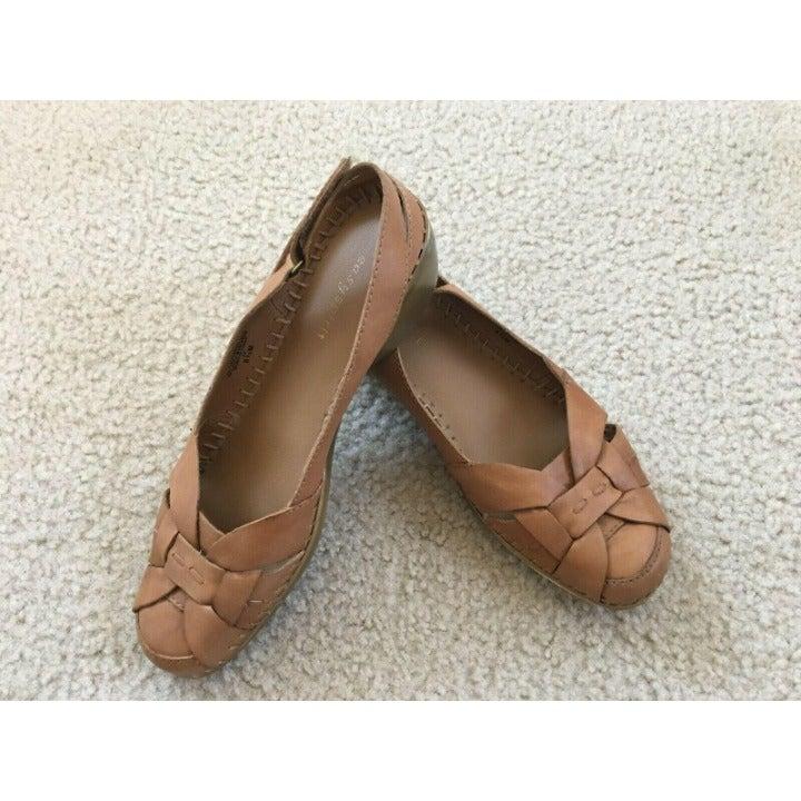 Easy Spirit Woven Leather Sandal Sz:8.5