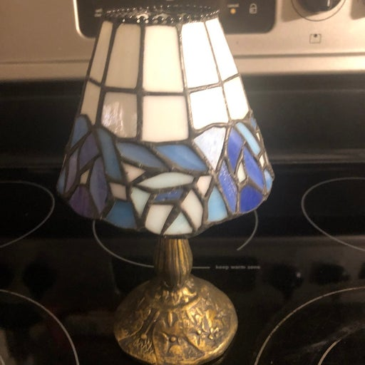 Tiffany style stained glass tea light