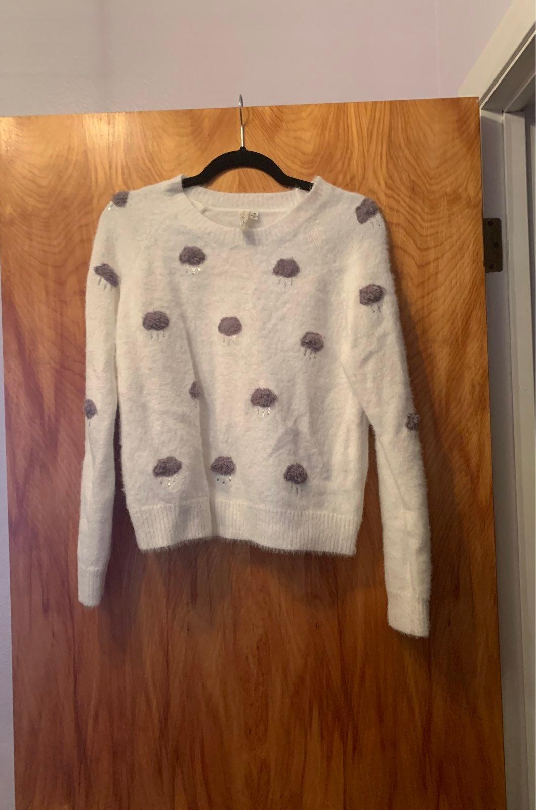 Pink Owl Raincloud Sweater