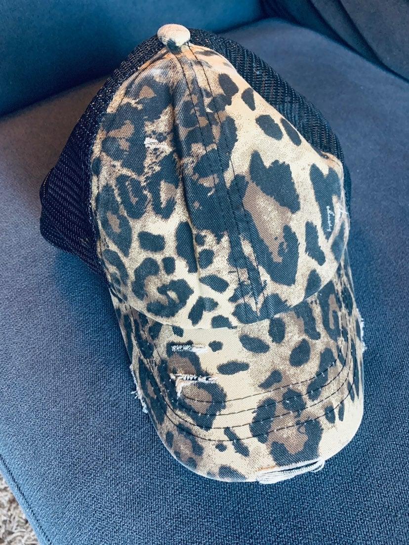 CC Leopard Criss Cross back hat