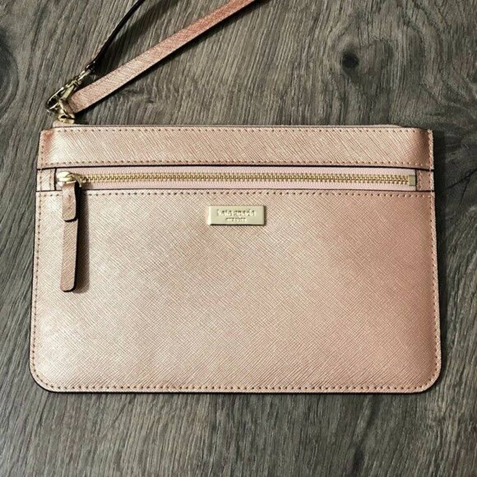 Kate Spade  Rose gold Wristlet BAG
