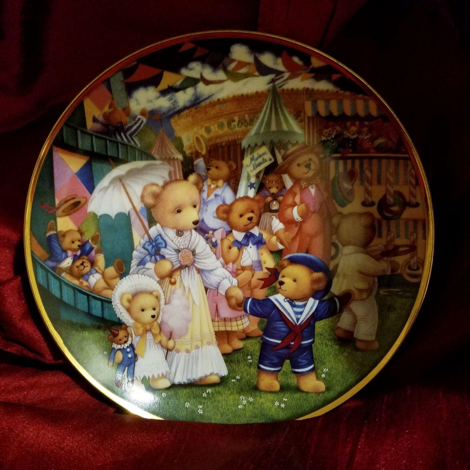 Plate, Franklin Mint, Teddy Bear Fair
