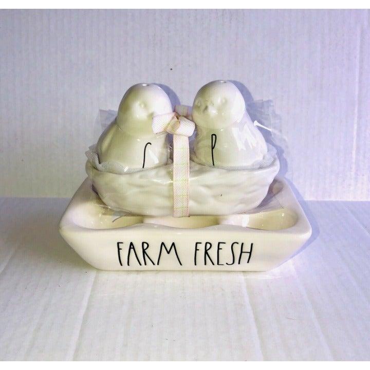 Rae Dunn FARM FRESH & Chick Salt Pepper