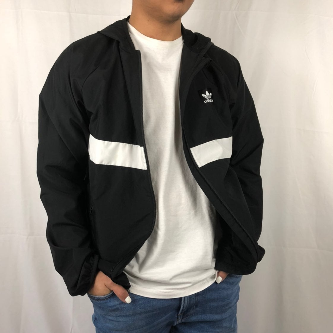 Adidas Lightweight Black Windbreaker