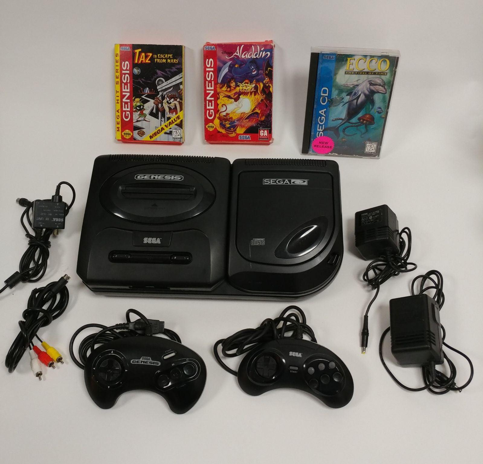Sega CD console model 2 Genesis games