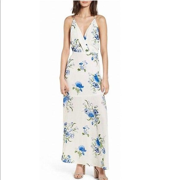 Lush Floral High Leg Maxi Dress