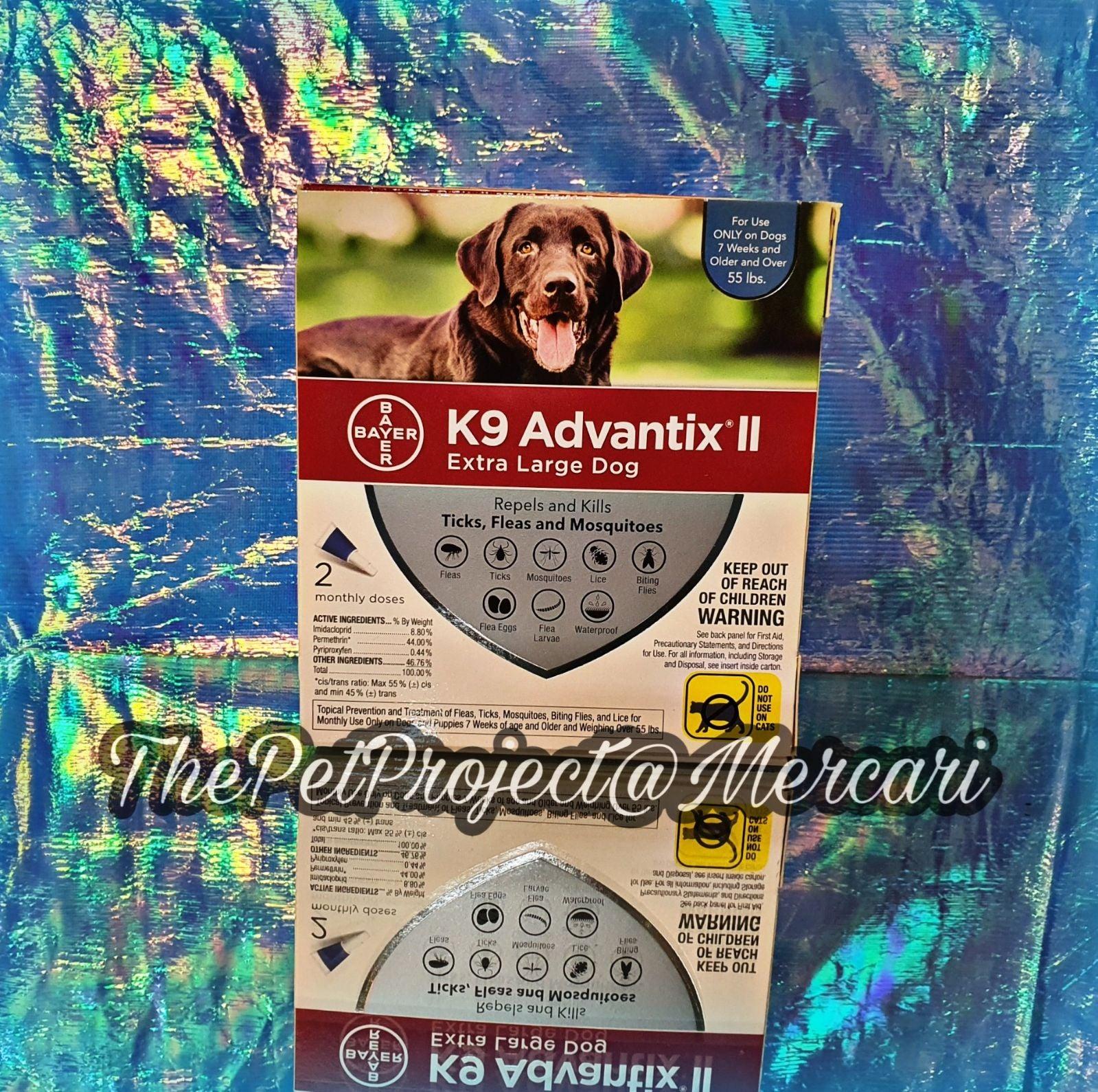 K9 ADVANTIX II ♡ EXTRA LARGE DOG 2 DOSES