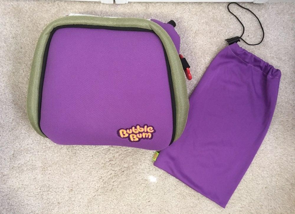 bubble gum booster seat purple
