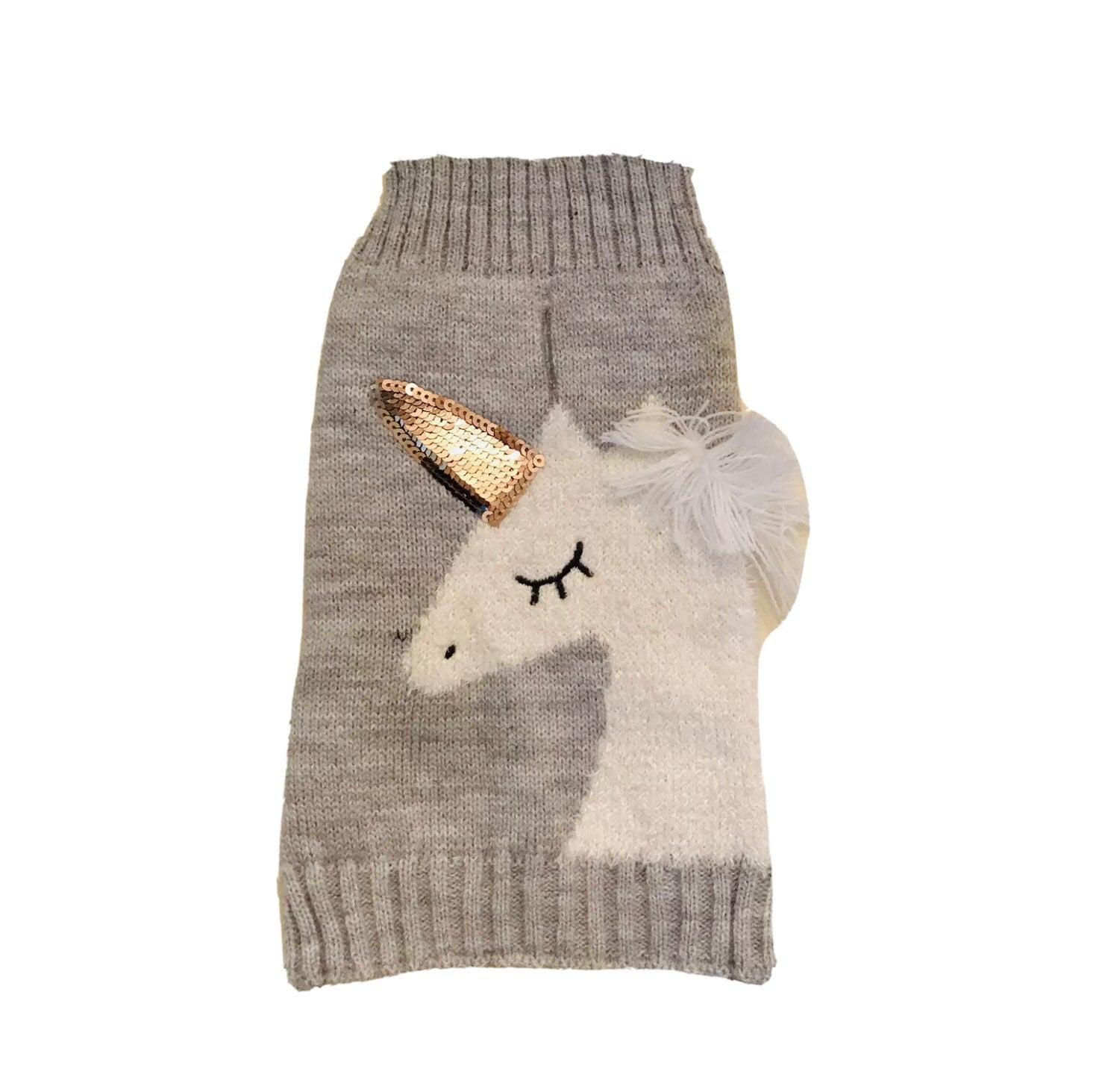 Vibrant Life Unicorn Dog Sweater Size S