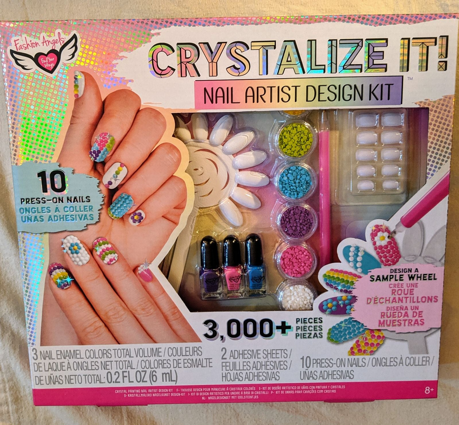 New Fasion Angels Crystalize It Nail Art