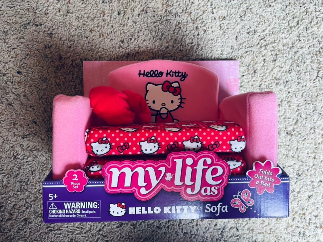 "NEW My Life as Hello Kitty 18"" Doll Sofa"