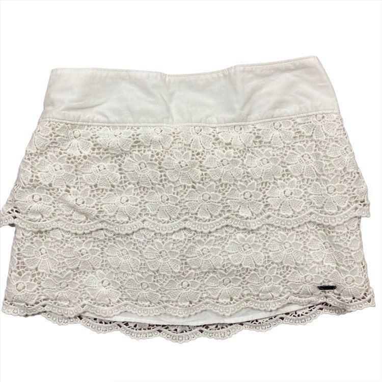 Hollister Small Mini Skirt White Lace