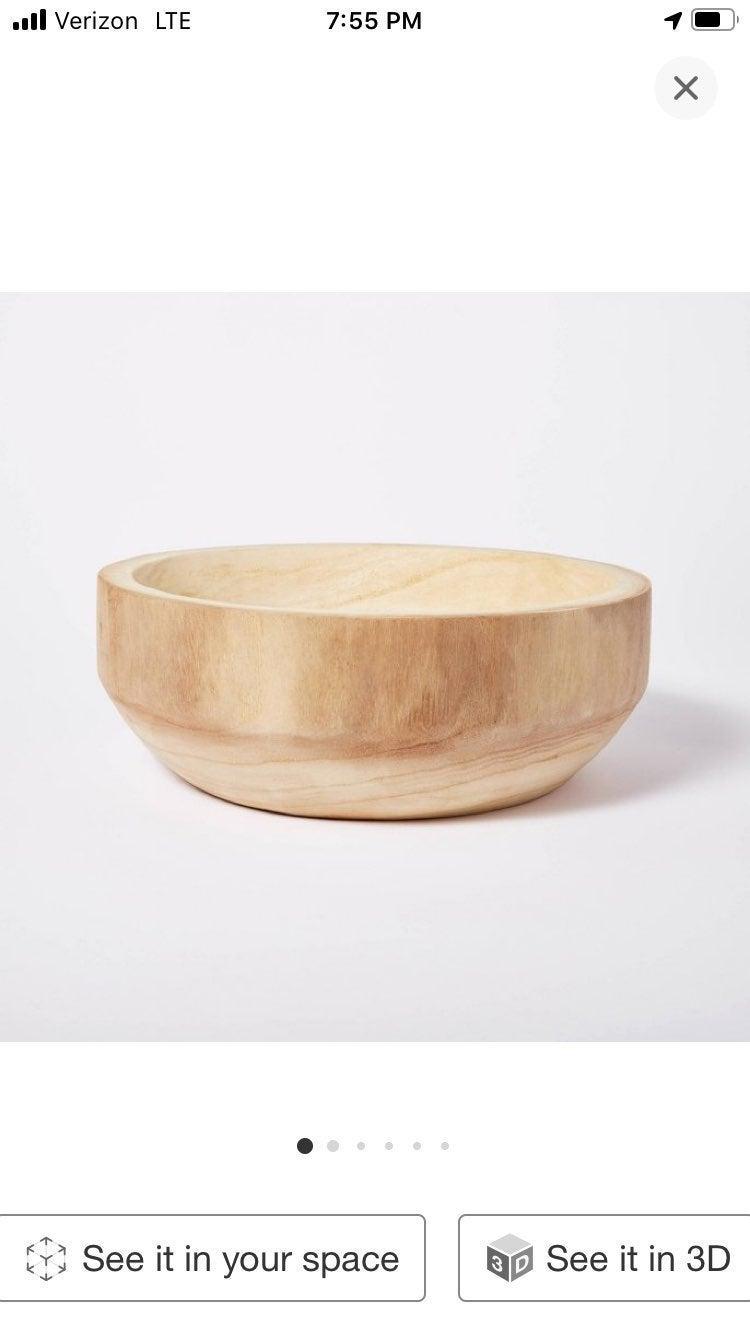 Threshold Studio Mcgee Wood Bowl