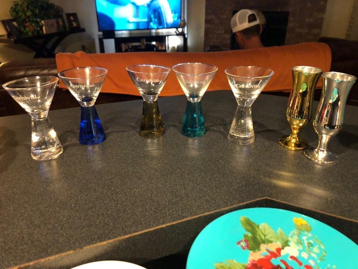 Carnival shot glasses