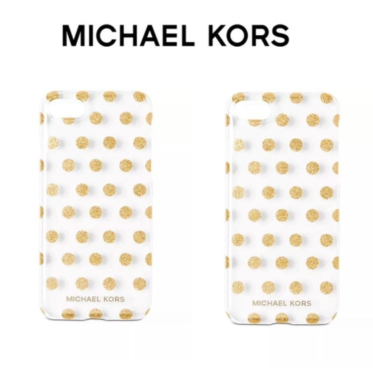 Michael Kors Gold Glitter iPhone Case