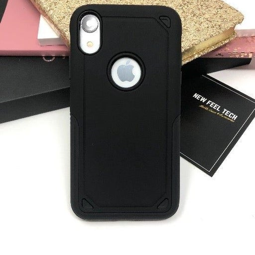 NEW iPhone XR Black Hybrid Armor Case