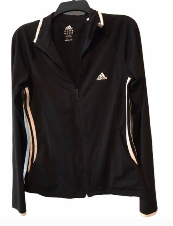 Adidas Black and White Athletic Jacket