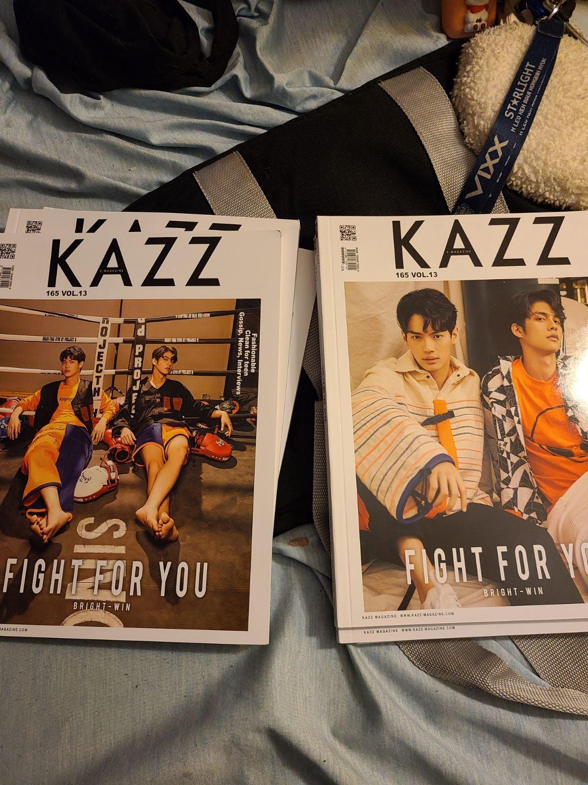 Kazz bright win magazine