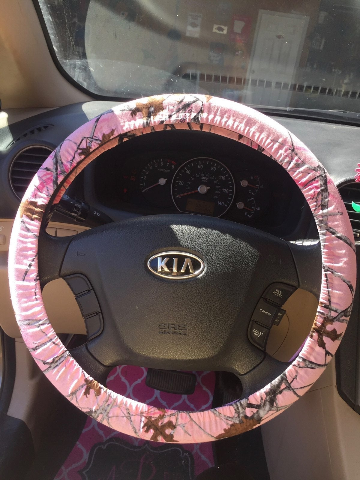 PinkCamo Steering Wheel Cover