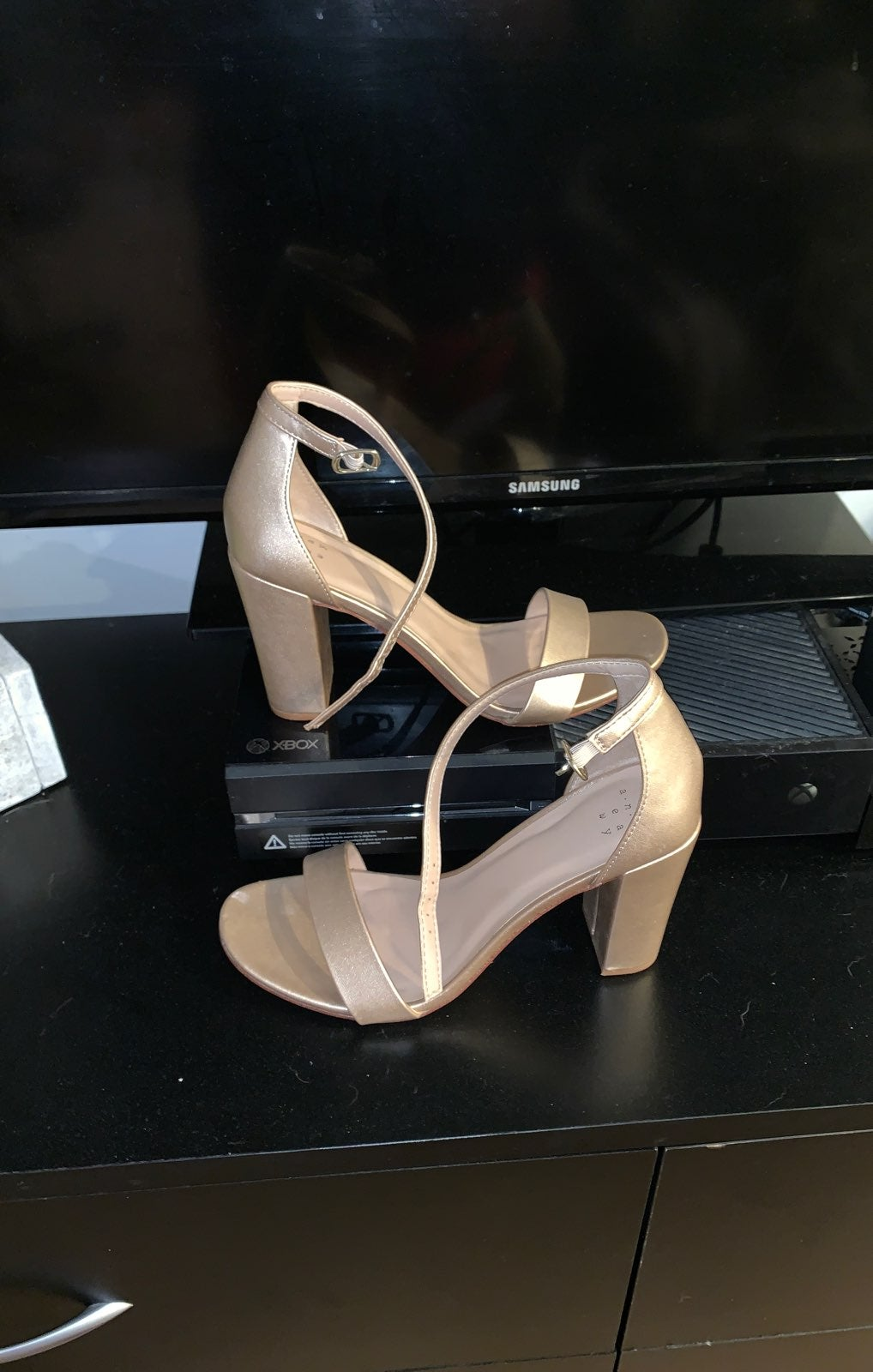 Rose Gold Strappy Heel