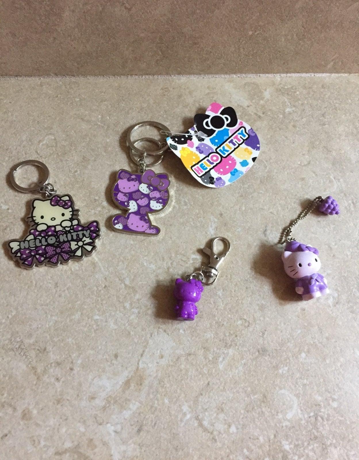 Bundle of 3 Hello Kitty Purple Keychains