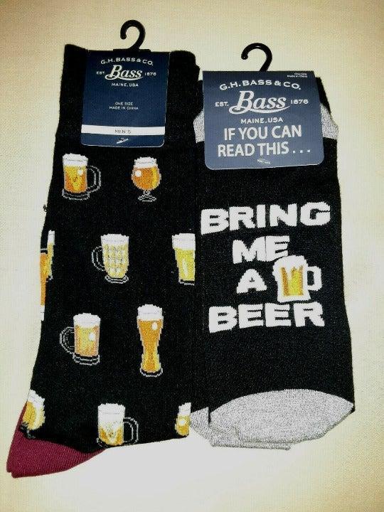 New G.H. Bass Socks Beer Mug Glass Socks