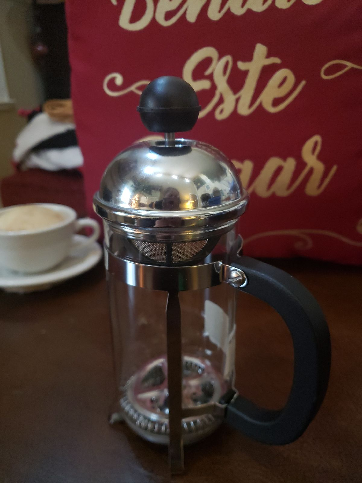 Coffee French press glass new