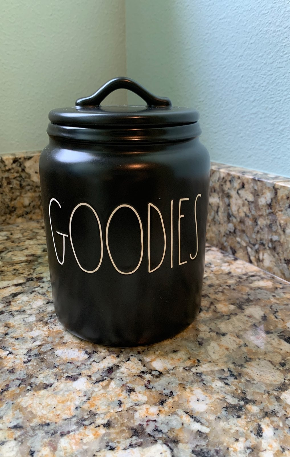 Rae Dunn Black Goodies Canister