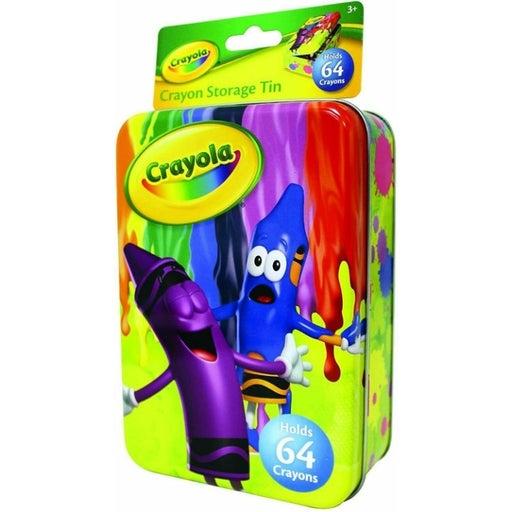 Storage Tin Holds 64 Cray Crayola Crayon
