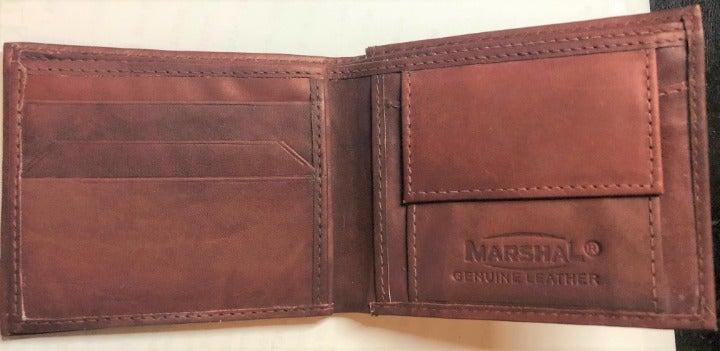 Men genuine Leather Wallet BiFold Marsha