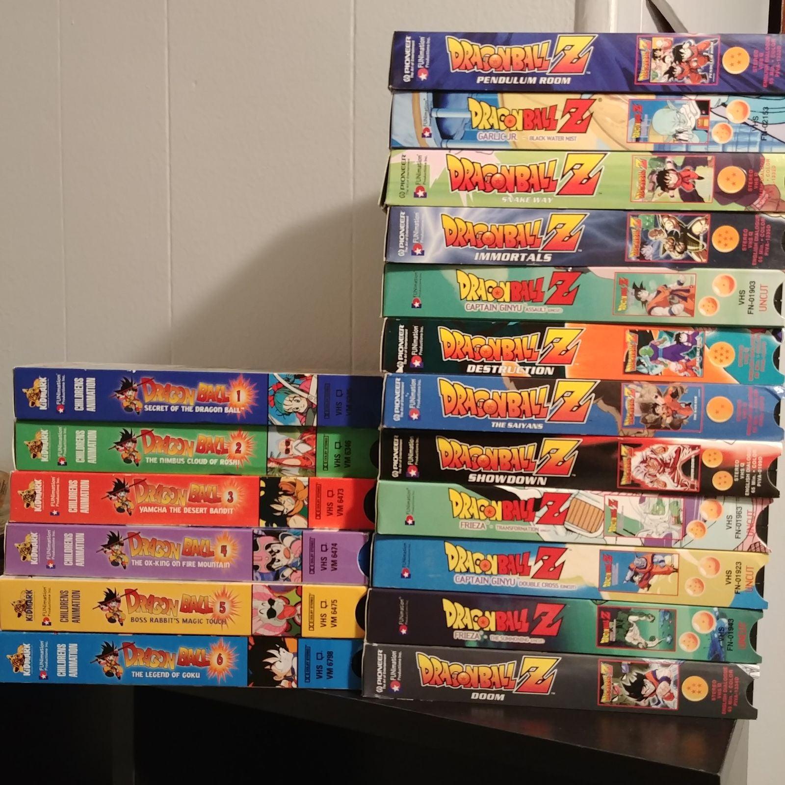 Lot of 18 Dragonball Z VHS