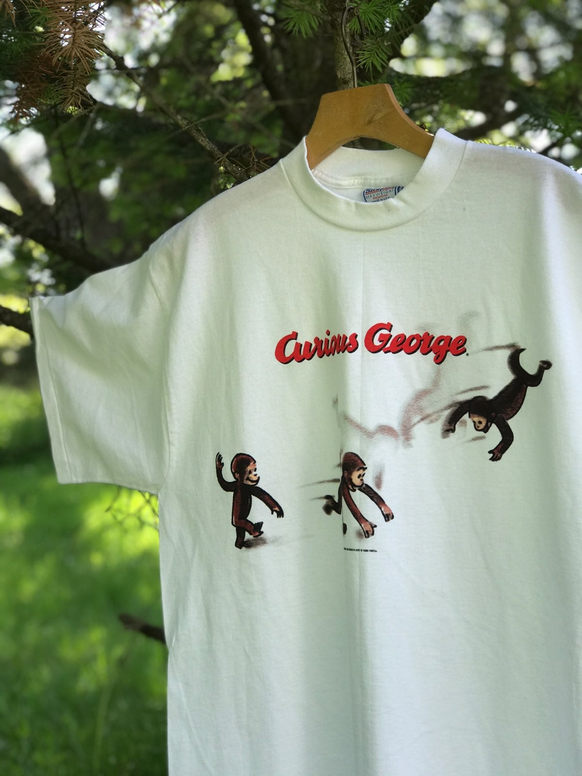 Vintage 90s Curious George T Shirt