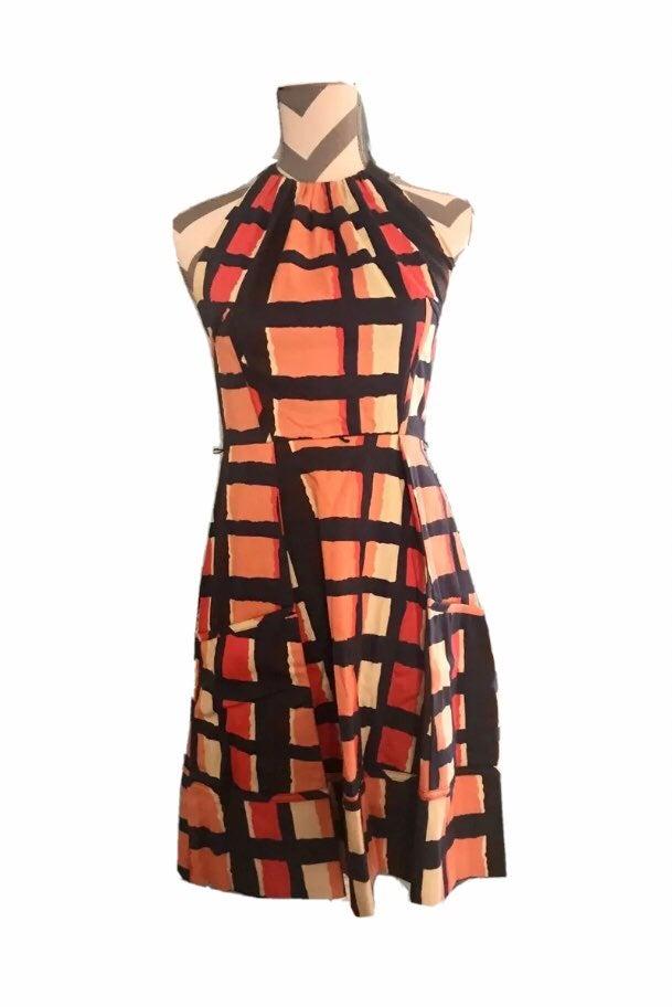 Jessica Simpson Geometric Halter Dress