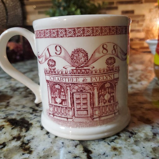 Crabtree Evelyn  collectors Mug 1988 Red