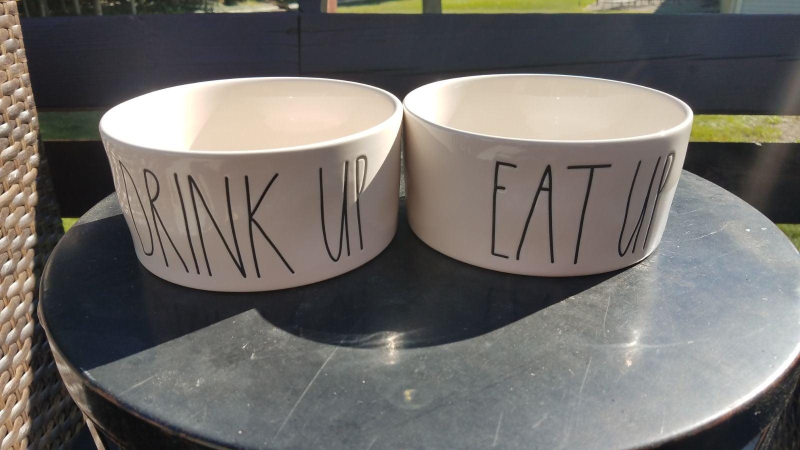 Rae Dunn dog bowls