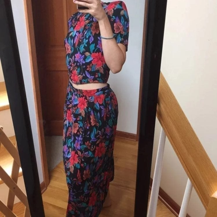Vintage Two Piece Skirt and Top Set
