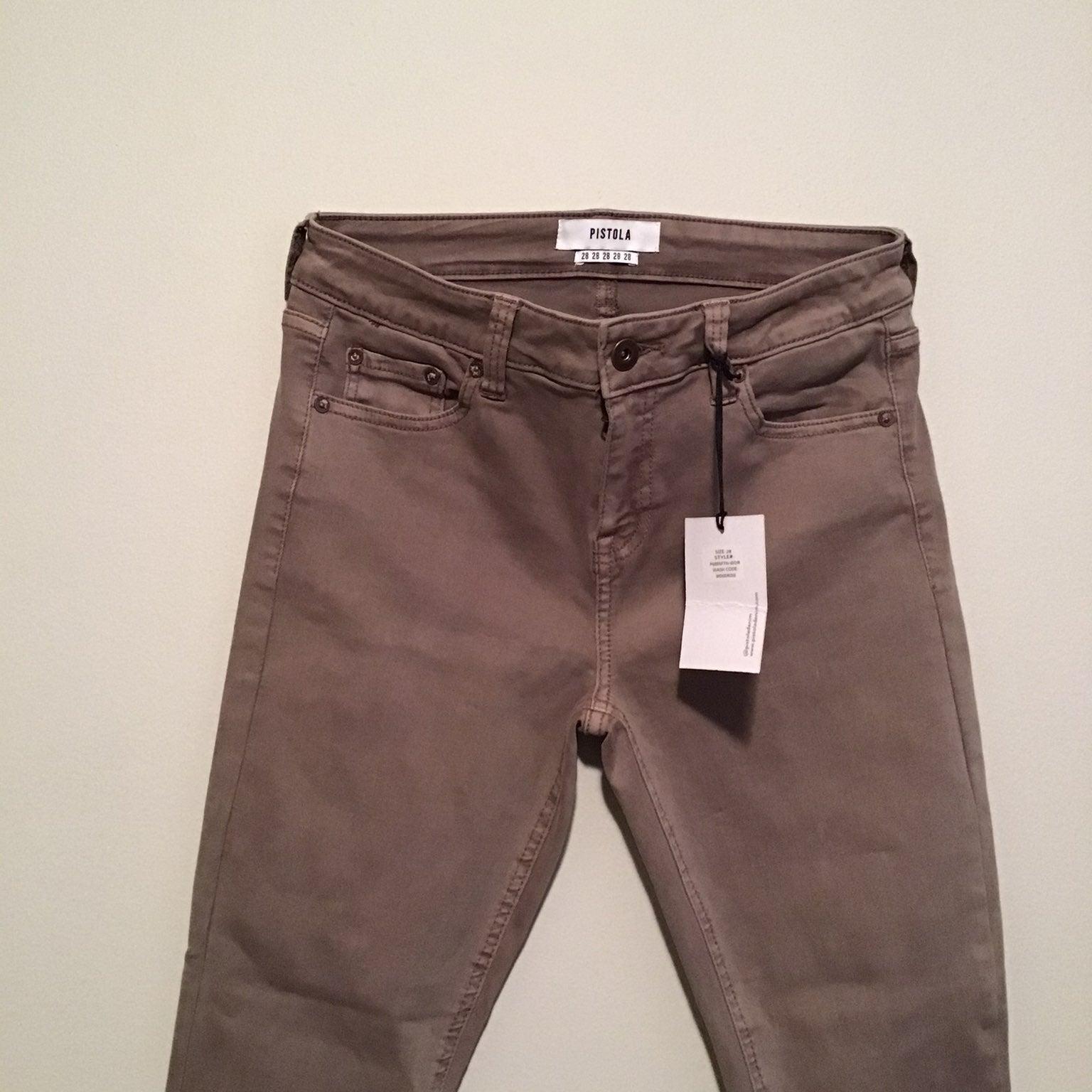 Ankle skinny zip jeans